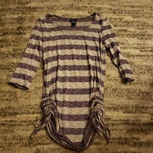 Maternity striped with tied sides